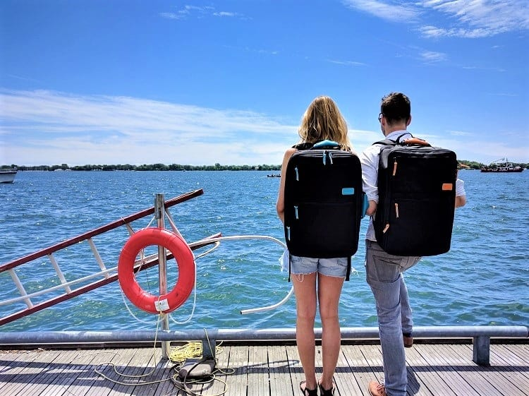 Standart's Carry-On Backpack - Wearing the BackPack