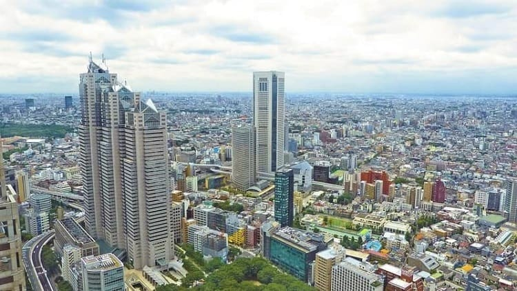 Traveling to Japan - Tokyo Skyline