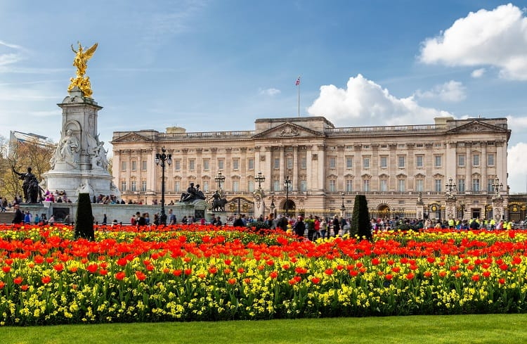 Buckingham Palace in London, United Kingdom.