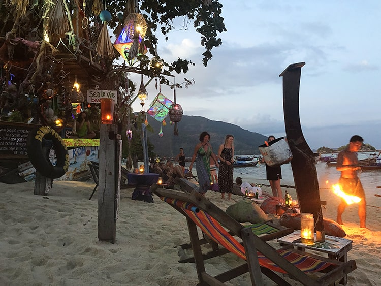 Fire Show and Beach Bar at Koh Lipe