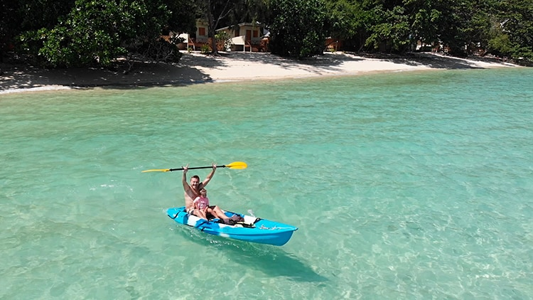 Kayaking at Koh Kradan Island