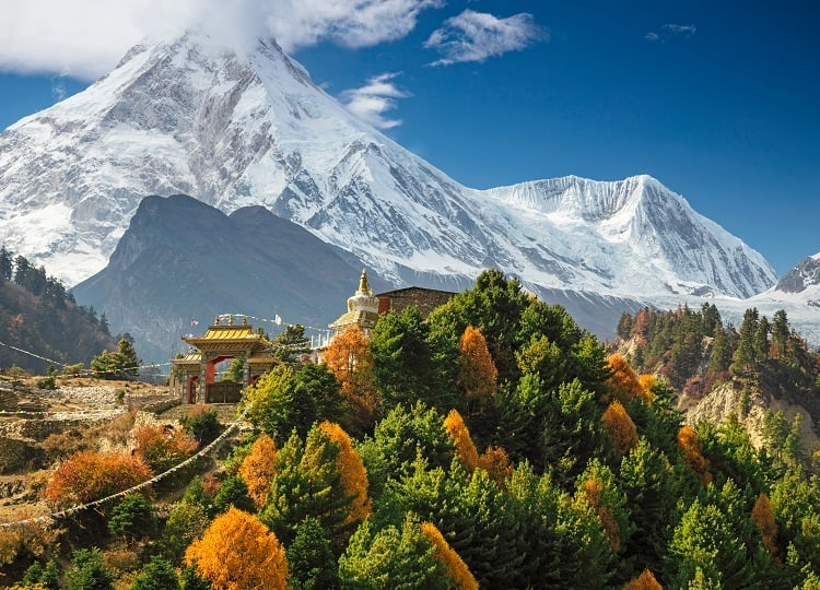 Manaslu Circuit Trek - Monastery at Manaslu Nepal