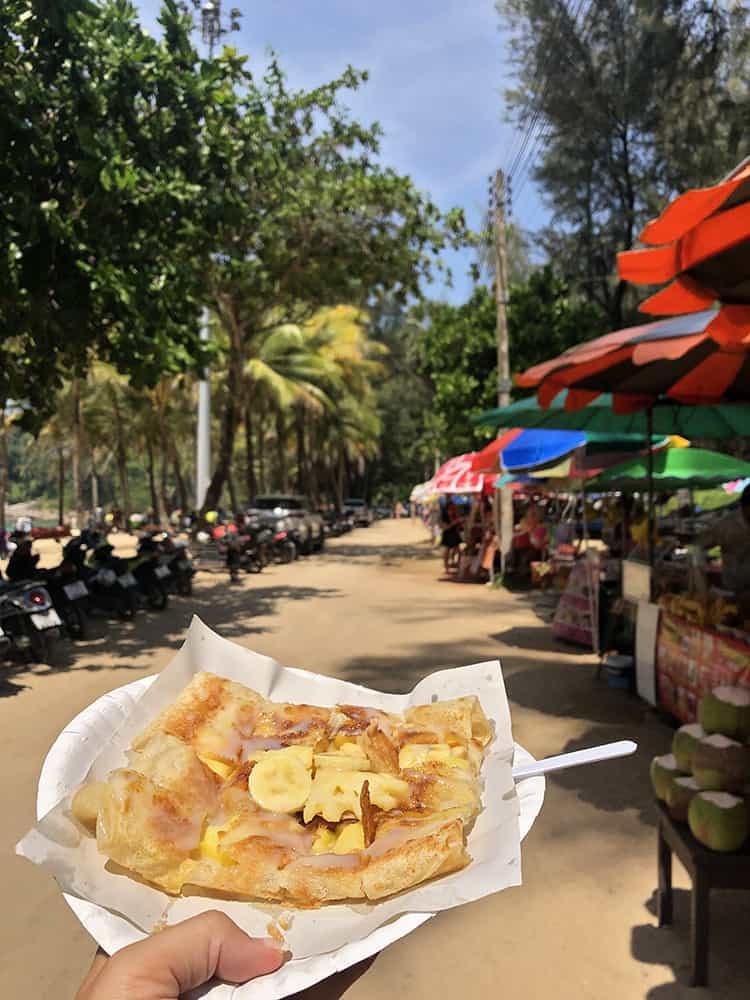 Thai pancakes at Surin Beach in Phuket