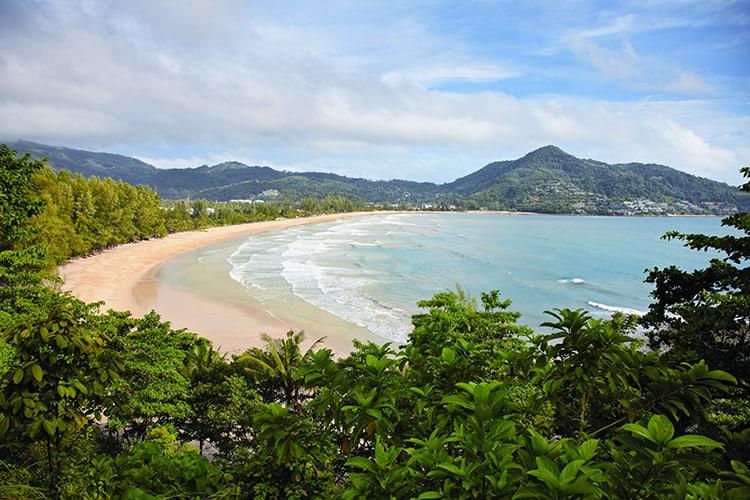 Tropical ocean with the beach - Thailand, Phuket, Kamala