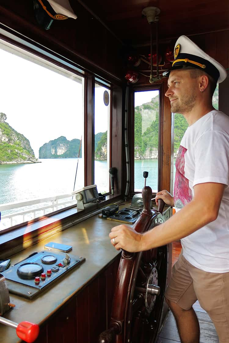 Captain of Indochina Junk Sails Cruise