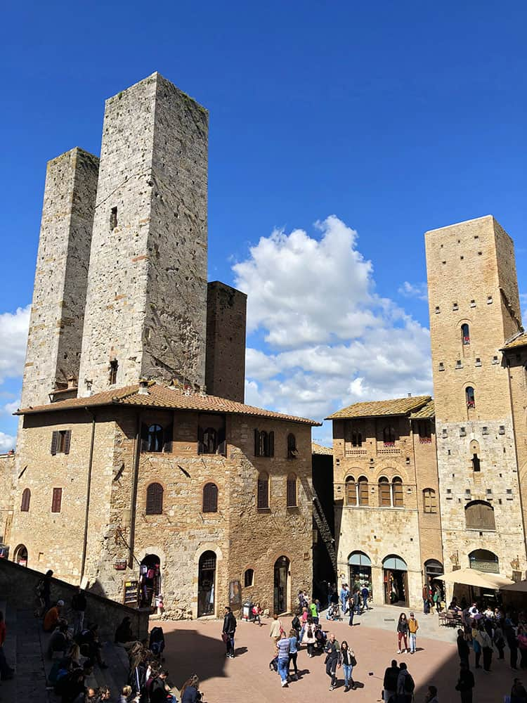 Piazza del Duomo is the main square in San Gimignano