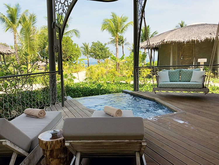 Private Plunge Pool on Double Story Treehouse Villas