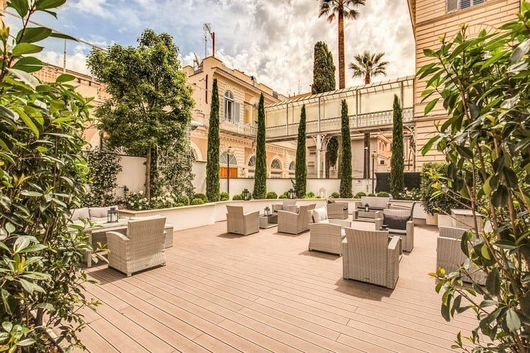 Best Family Hotels in Rome - The Liberty Boutique Hotel - Terrace