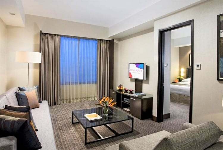 Best Singapore Accommodation for Families - Royal Plaza on Scotts Hotel - Living Room