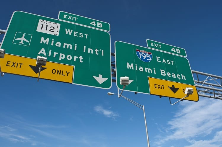 Miami International Airport - Road to the Airport