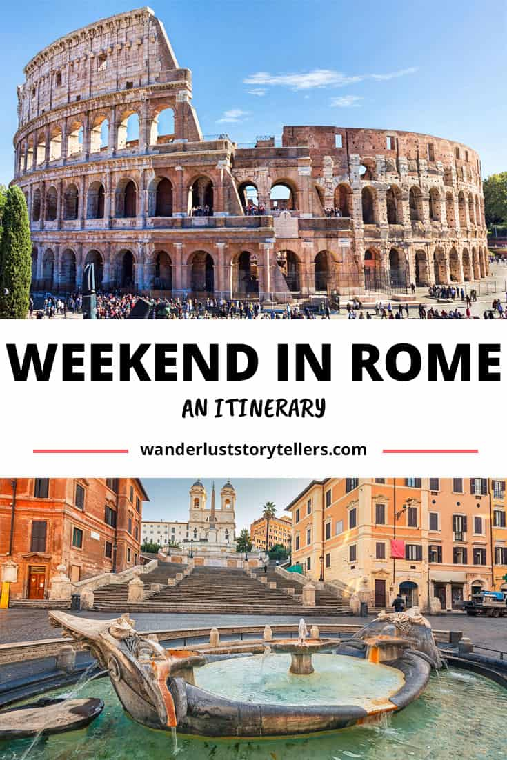 a Weekend in Rome Italy