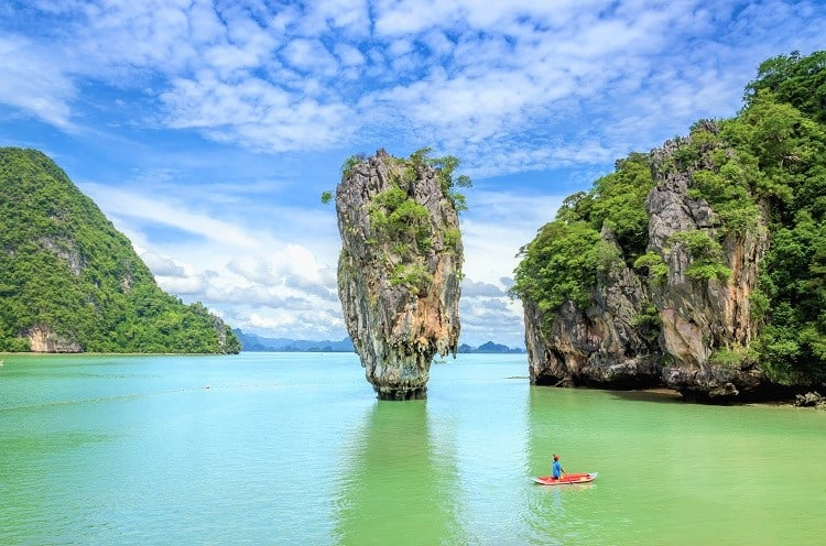 Best Things to do in Phuket Thailand - Cannoeing James Bond Island