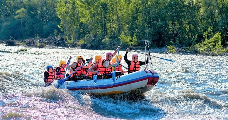 What to do in Phuket Thailand - River Water Rafting