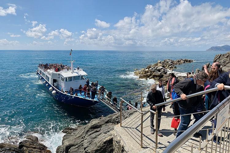 Boat in Cinque Terre