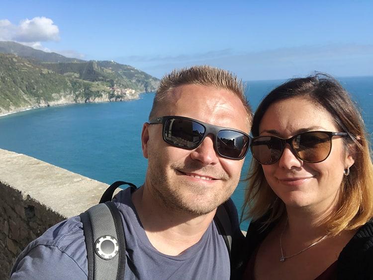 Coastal views from Corniglia Italy
