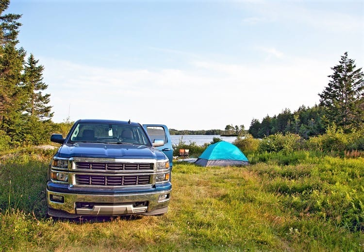 Pickup Truck Camping Trip