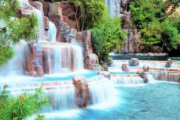 Waterfall at the Wynn Hotel Las Vegas