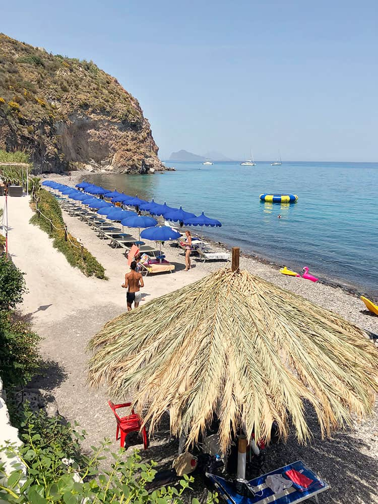 White Beach Lipari Island