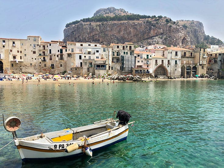 Cefalu Molo Sicily with Kids, Sicily Itinerary with Kids