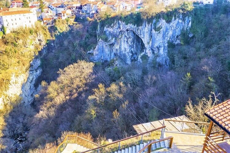 Pazin zip line, Istria, Croatia