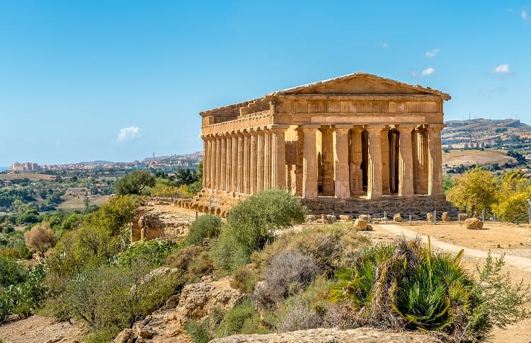 Temple of Concordia Agrigento with Kids in Sicily