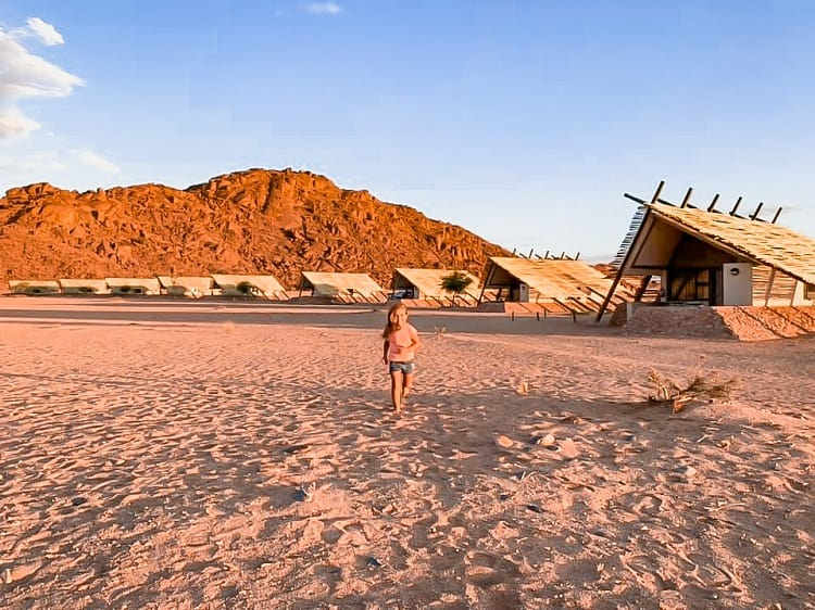 Camping in a desert with Kids - Namibia Desert Quiver Camp