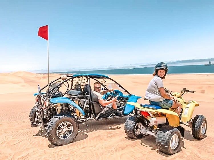 Daredevil Adventure with Kids in Swakopmund - Dune Buggies in Namibia