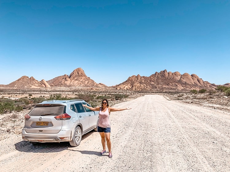Driving in Spitzkoppe with Kids