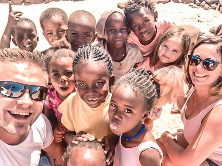 Meet the Locals in Spitzkoppe in Namibia with Kids