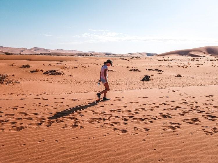 Namibia desert with Kids