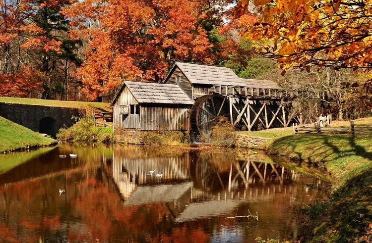 Mabry Mill on a Road Trip in Blue Ridge Parkway in Virginia U.S.