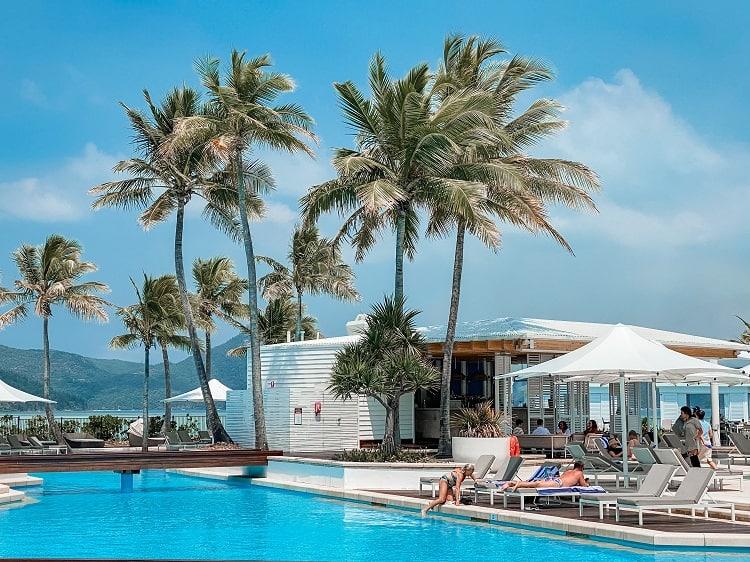 Intercontinental Hayman Island Resort - Pool View from Restaurant