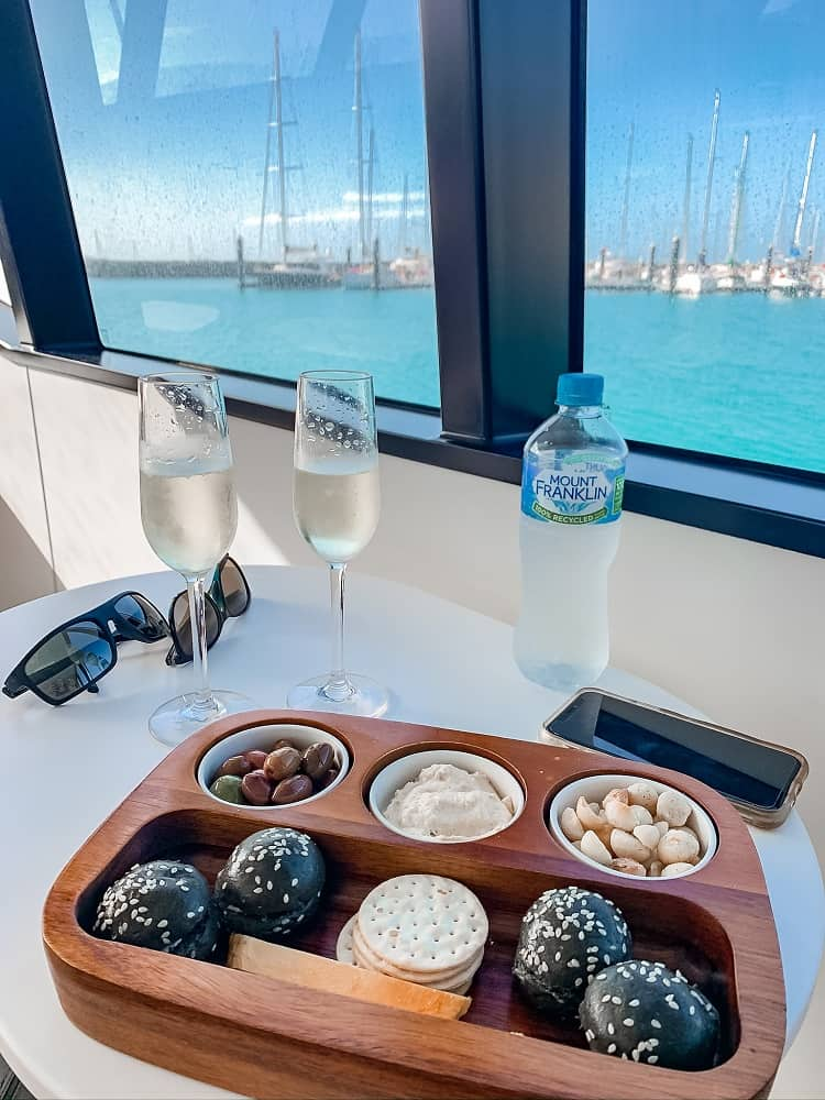 Intercontinental Hayman Island - Snacks and Sparkling Wine