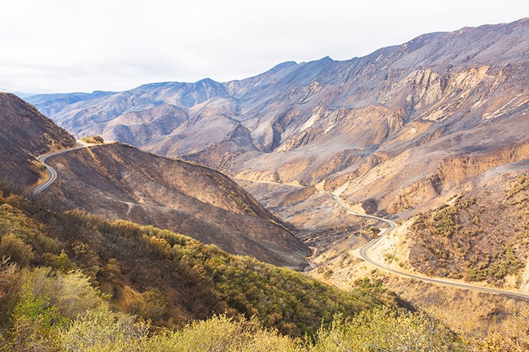 Highway 33 in Ojai California - Top Day Trips from Los Angeles