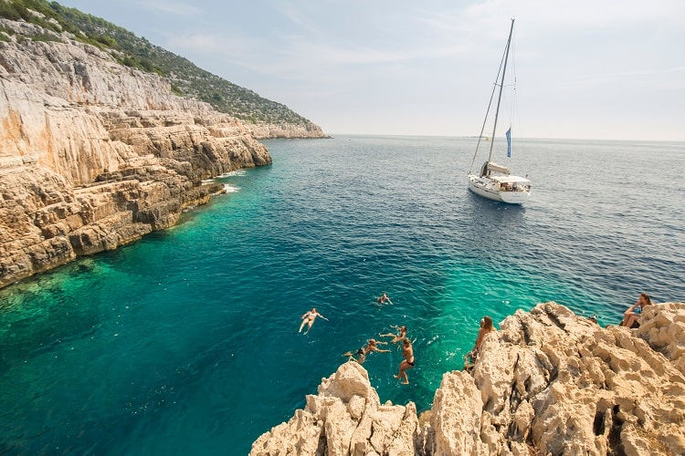 Mjlet island, Croatia on a Yacht Family Vacation