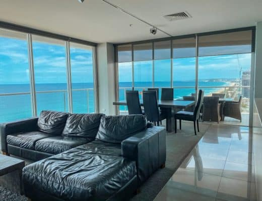 ULTIQA Air On Broadbeach Review - Living Area