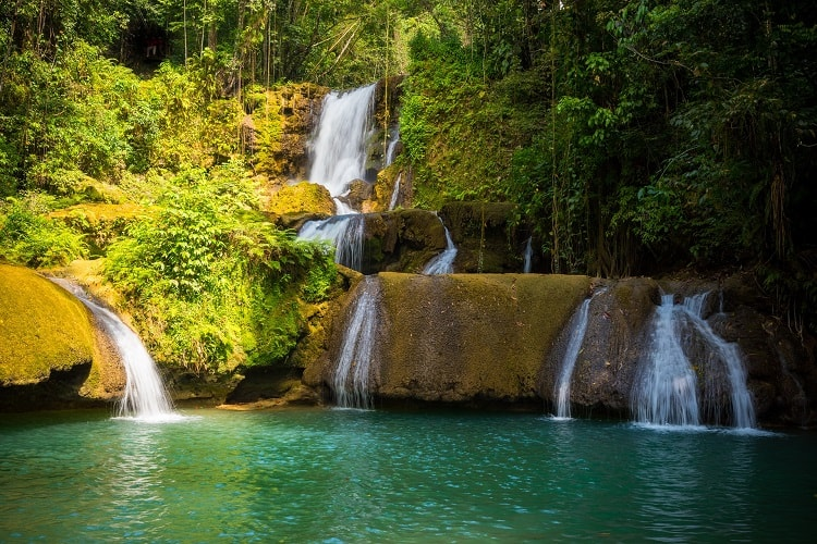 7 Fun Activities to do in the Caribbean With Kids - Waterfall in Jamaica