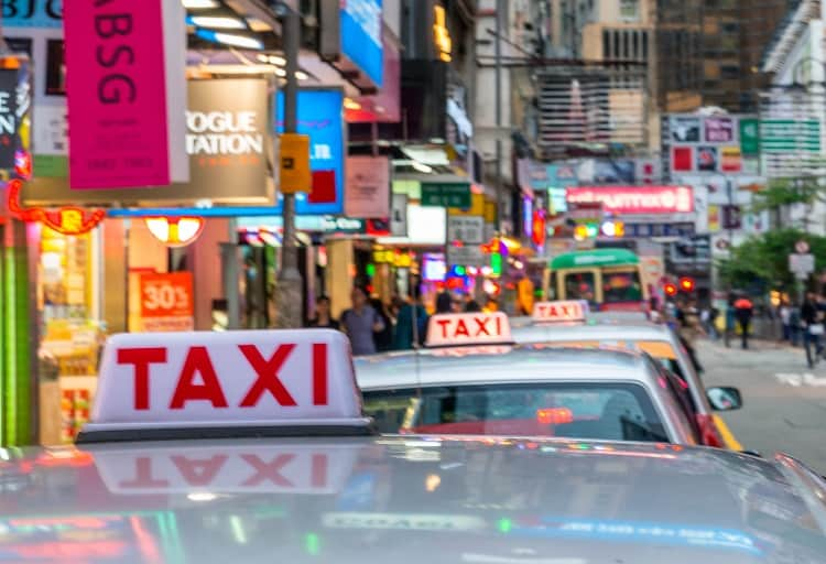 Chinese Red Taxi