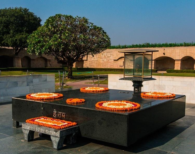 Rajghat, Mahatma Gandhi Crematorium, Delhi, India