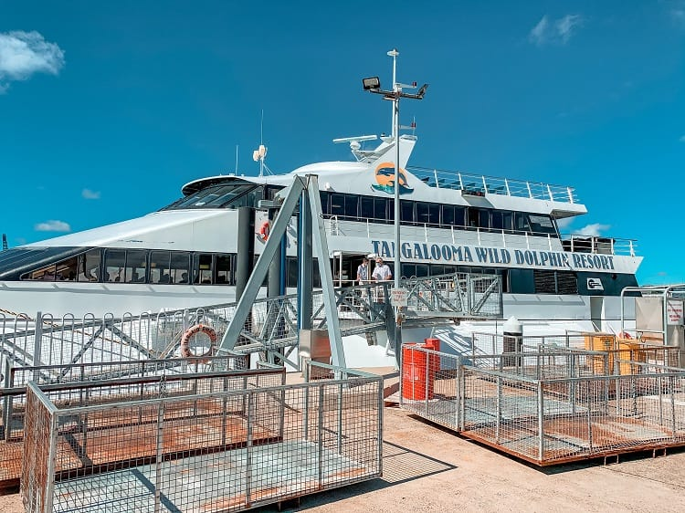 Tangalooma Island Resort Review - Tangalooma Island Ferry Terminal
