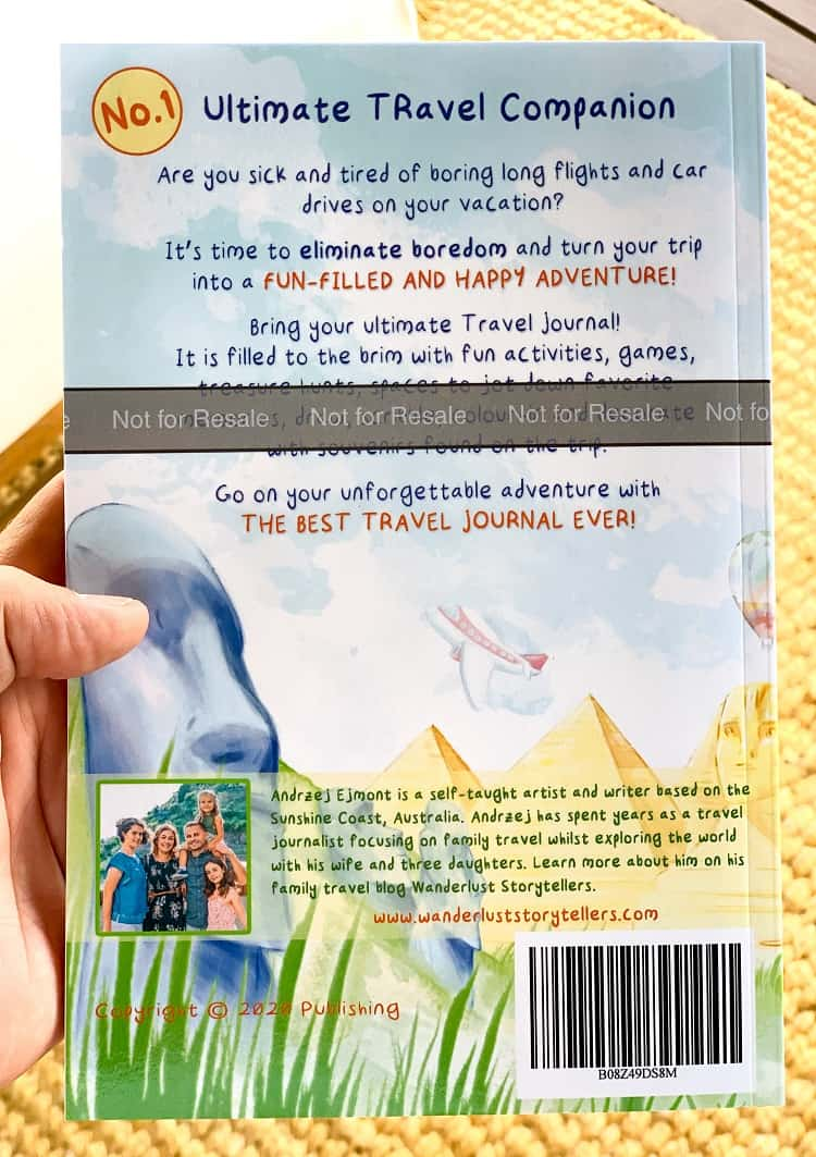 A Travel Journal For Kids - Andrzej Ejmont - Back Cover