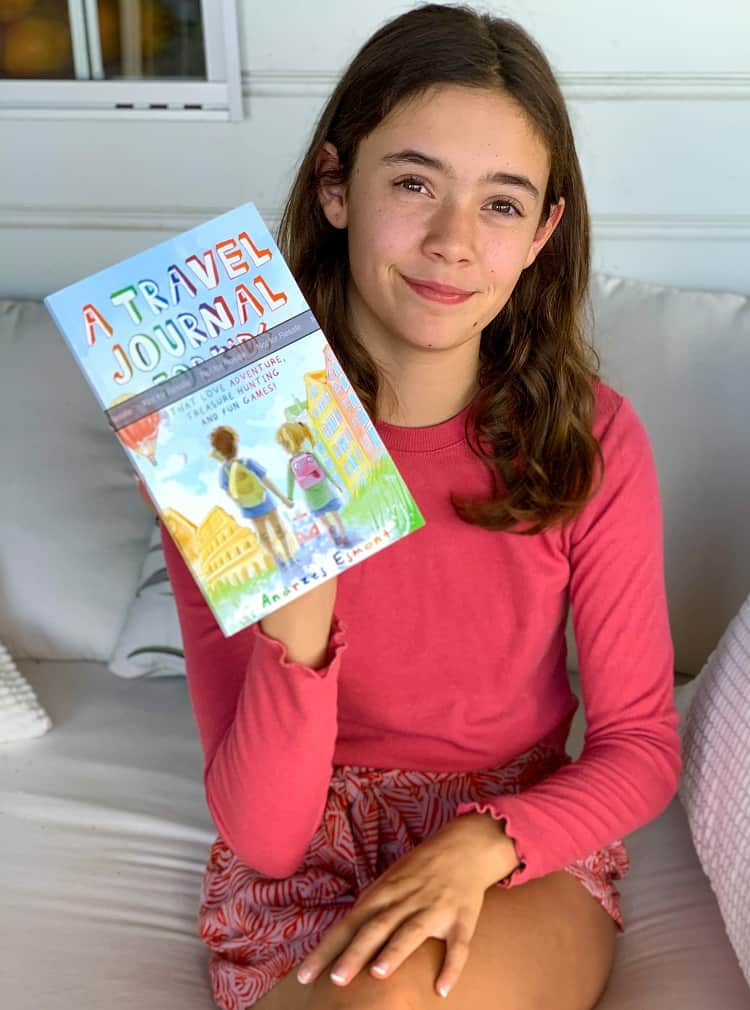 A Travel Journal For Kids - Andrzej Ejmont - Lily with my book