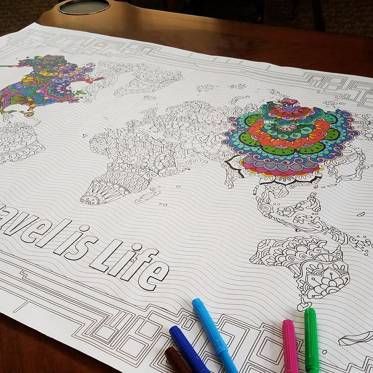 World Mar Coloring Poster