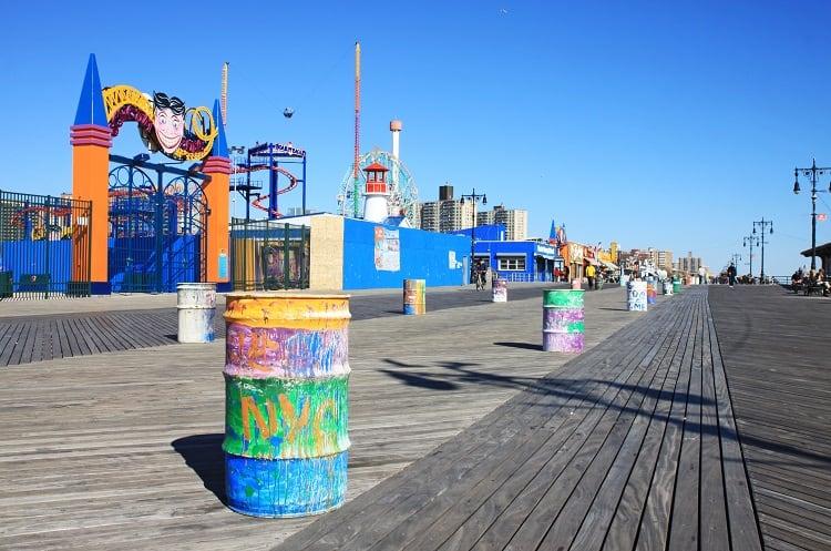Boardwalk On Coney Island