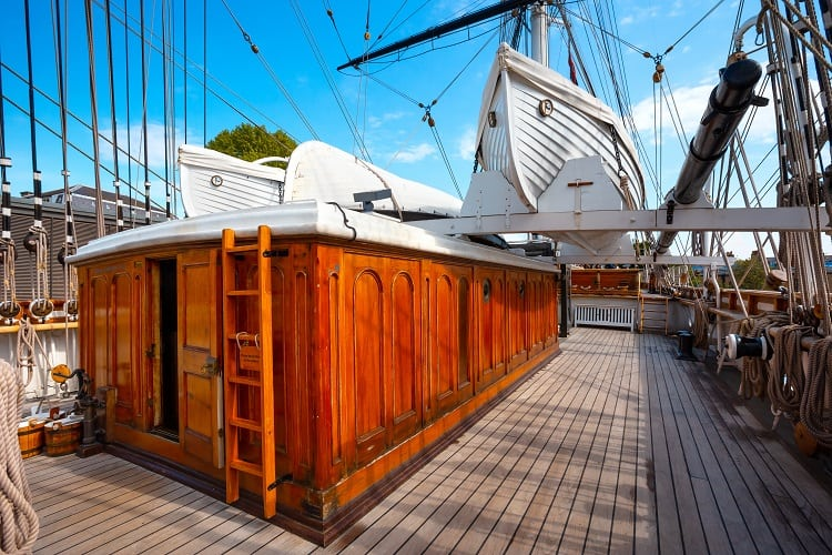 Cutty Sark the historical tea clippers ship in Gerrnwich, London, UK