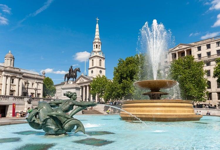 Trafalgar Square with Kids, London, UK