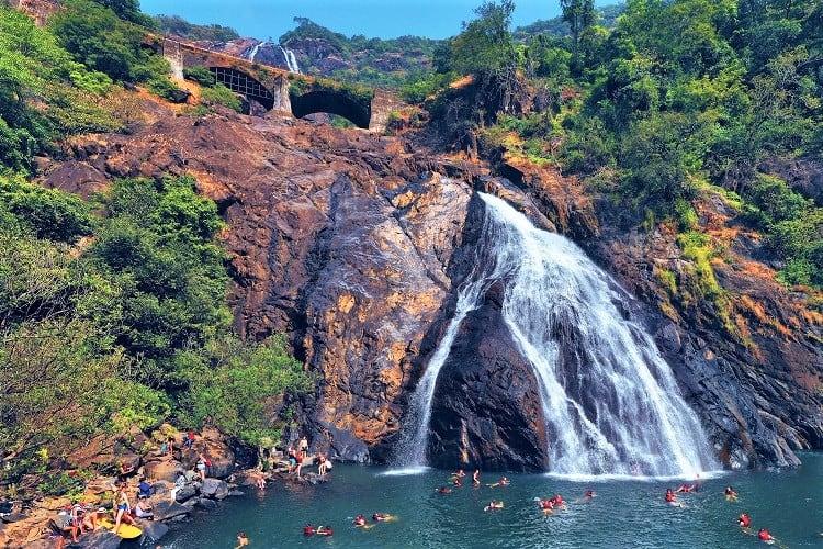 Dudhsagar Falls Goa, Visit Goa India with Kids