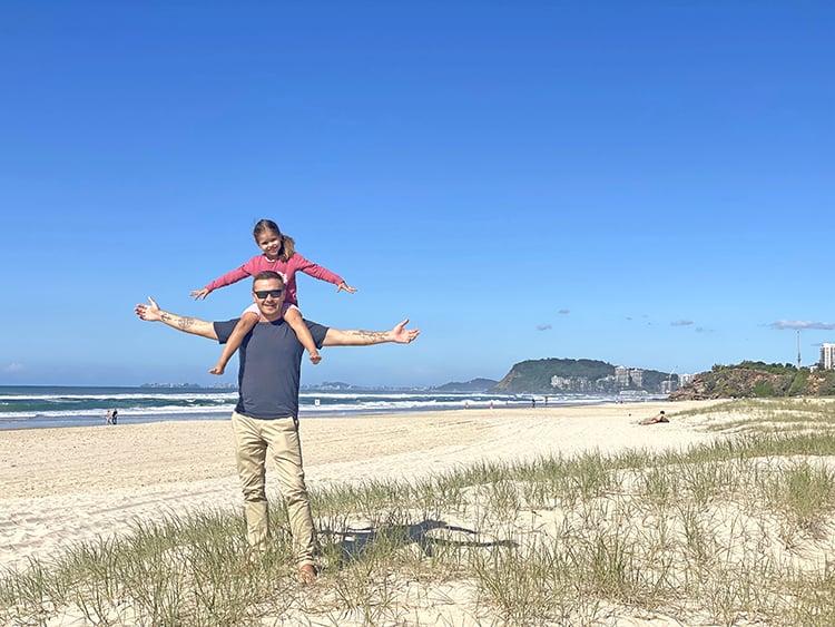 Miami Beach Gold Coast, Surf Lifesaving Club Beach Entrance, Queensland, Australia