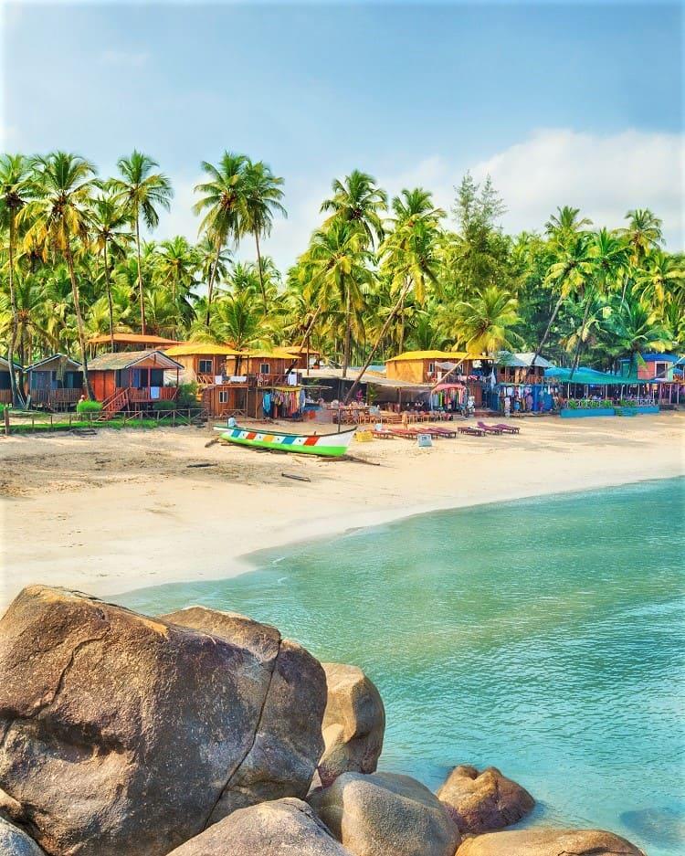 Palolem Beach in Goa India with Kids
