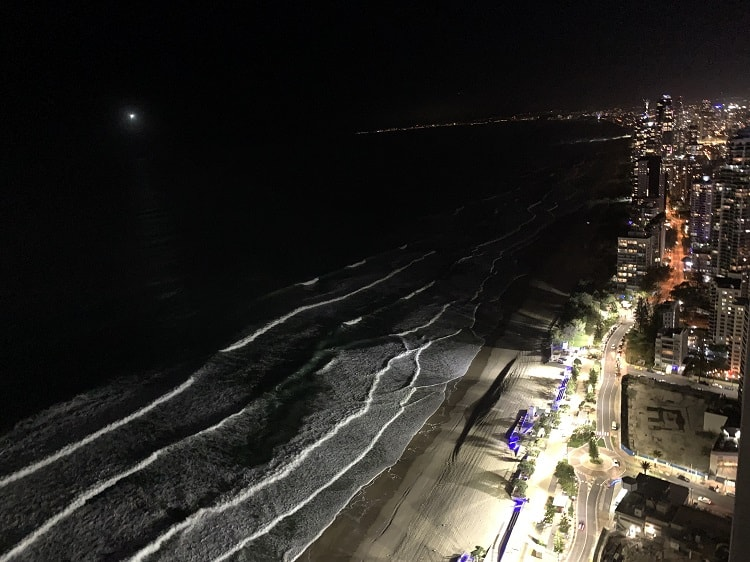 Peppers Soul Surfers Paradise Review - view at night